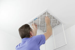 Along with regular HVAC maintenance, you can improve your indoor air quality by regularly changing your air filters in your home.